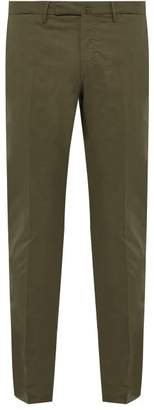 Incotex Slim Fit Cotton Blend Chino Trousers - Mens - Green