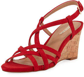 Tahari Future Suede Wedge Sandal