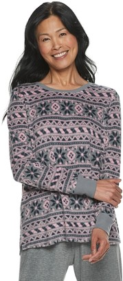 Croft & Barrow Women's Fairisle Luxe Pajama Top