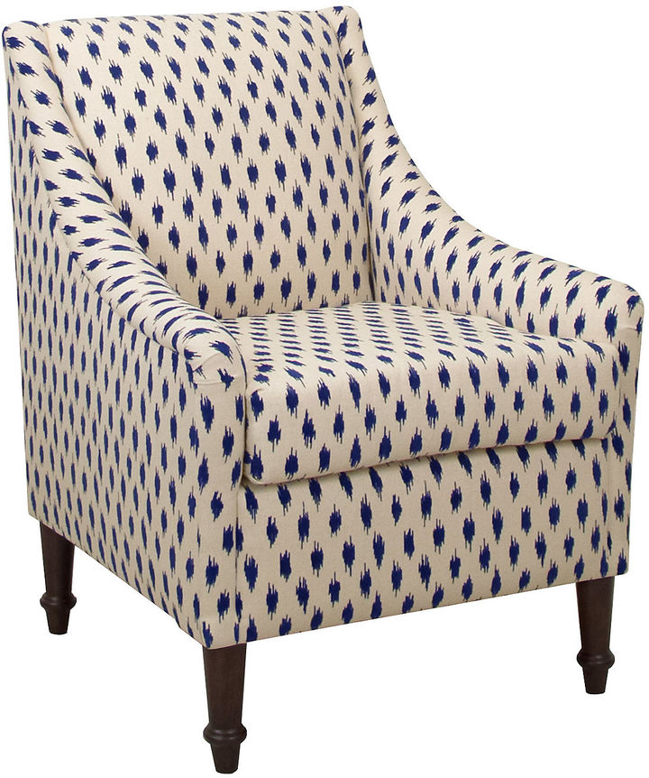 One Kings Lane Collection Holmes Accent Chair, Navy Dots