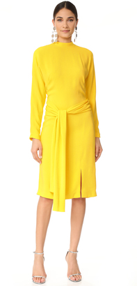 Salvatore Ferragamo Long Sleeve Dress $3,100 thestylecure.com