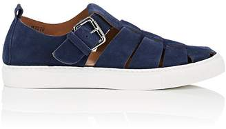 Barneys New York MEN'S NUBUCK FISHERMAN SNEAKERS