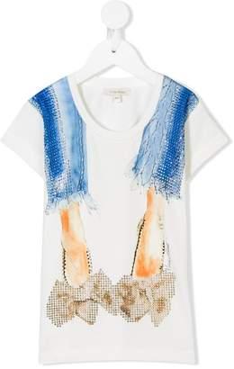Miss Grant Kids crystal-embellished shoes T-shirt