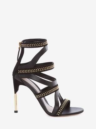 Alexander McQueen Pin Heel Cage Sandal