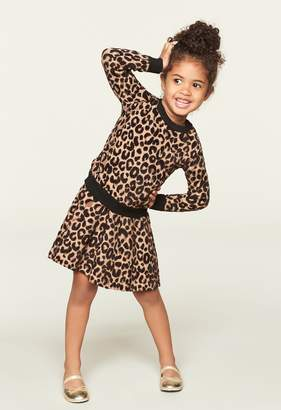 Milly Minis MillyMilly Textured Cheetah Pullover