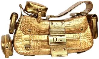 Christian Dior Saddle crocodile handbag