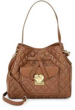 Love Moschino Quilted Bucket Crossbody Bag