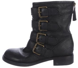Marc by Marc Jacobs Round-Toe Leather Ankle Boots