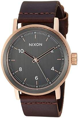 Nixon Men's 'Stark' Quartz Stainless Steel and Leather Casual Watch