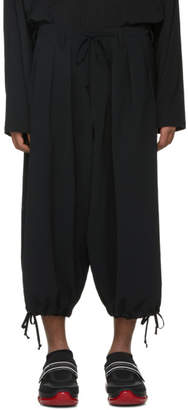 Yohji Yamamoto Black Bloomer Trousers
