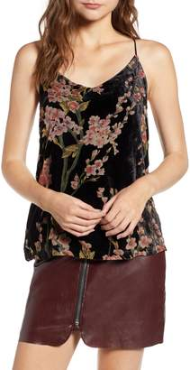 Bishop + Young BISHOP AND YOUNG Victoria Floral Burnout Velvet Tank