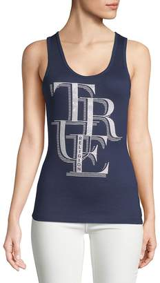 True Religion Women's Stacked Logo Tank Top