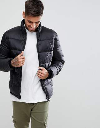 New Look Quilted Jacket In Black