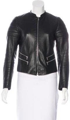Sandro Leather Biker Jacket $295 thestylecure.com