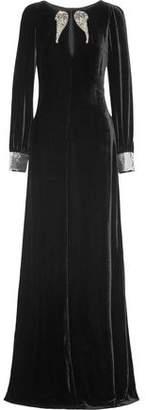 Roberto Cavalli Embellished Velvet Gown