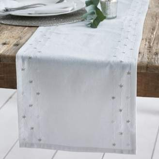 The White Company Star Embroidery Table Runner