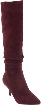 Isaac Mizrahi Live! Suede Slouch Heel Boots