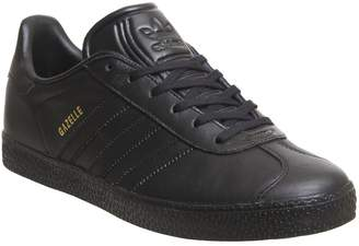 adidas Gazelle Junior Trainers Core Black Mono