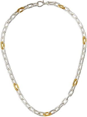 """Gurhan Two-Tone Oval-Link Chain Necklace, 18""""L"""