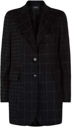 Akris Selia Grid Flannel Jacket