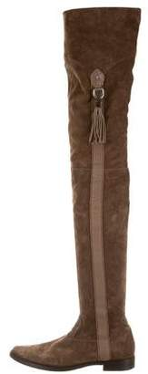 Henry Beguelin Suede Thigh-High Boots