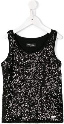 DSQUARED2 sequin embellished tank top