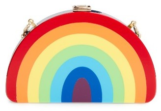 Milly Rainbow Half Moon Clutch - Red $295 thestylecure.com