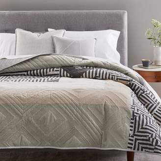 west elm Pamela Wiley Organic Optic Stripe Quilt