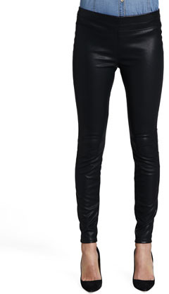 Blank Pussy Cat Faux-Leather Leggings