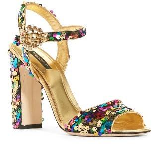 Women's Dolce&gabbana Sequin Sandal $795 thestylecure.com