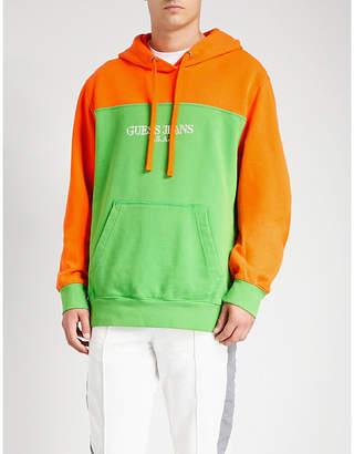 GUESS USA Farmers Market colour-blocked cotton-jersey sweatshirt