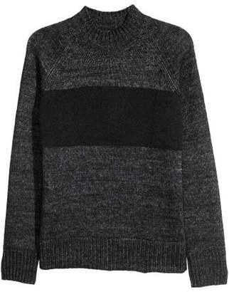 H&M Knit Mock Turtleneck Sweater - Black