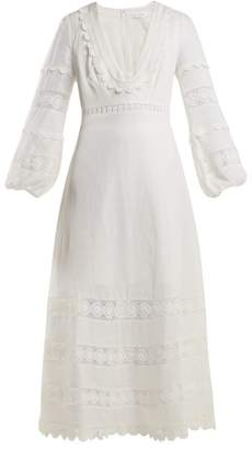 Zimmermann Castile Lace Trimmed Cotton Dress - Womens - Ivory