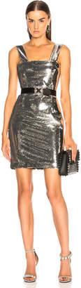 Galvan Chrome Mini Dress in Silver | FWRD
