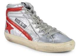 Golden Goose Slide Leather High-Top Sneakers