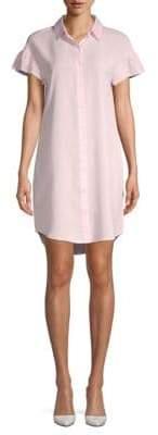 Saks Fifth Avenue BLACK Ruffled Short-Sleeve Shirtdress