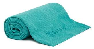 Gaiam No-Slip Yoga Mat Towel - Turquoise
