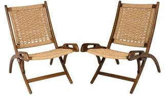 Caned Folding Chairs