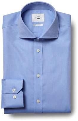 Mens Moss 1851 Tailored Fit Sky Single Cuff Zero Iron Shirt