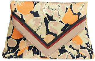 Dries Van Noten Floral Print Envelope Clutch