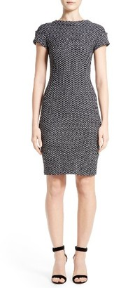 Women's St. John Collection Chevron Tweed Sheath Dress $995 thestylecure.com