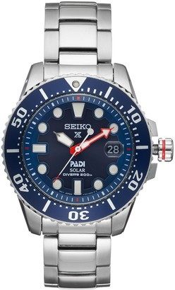 Seiko Men's Prospex PADI Special Edition Stainless Steel Solar Dive Watch - SNE435