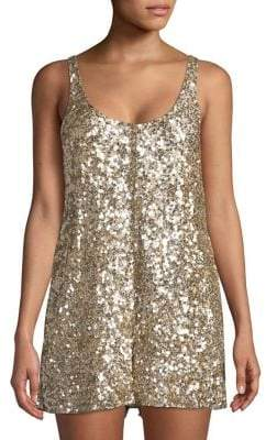French Connection Sequin Sleeveless Romper