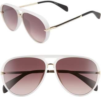 Rag & Bone 60mm Mirrored Aviator Sunglasses
