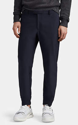 Prada Men's Checked Crepe Slim Trousers - Blue
