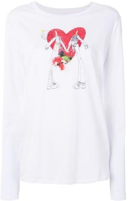 A.F.Vandevorst heart print T-shirt