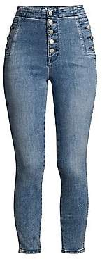 J Brand Women's Natasha Sky High Cropped Skinny Jeans
