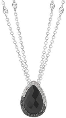 Alor Delatori By Silver Plated 52.00 Ct. Tw. Gemstone Necklace