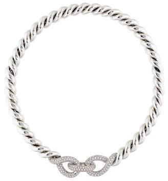 Hermes 18K Diamond Torsade Necklace