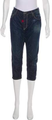 DSQUARED2 Embroidered Mid-Rise Boyfriend Jeans